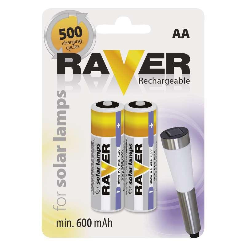 Nabíjecí baterie, nabíječky Baterie Raver, AA, 600mAh, 2 ks