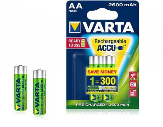 Nabíjecí baterie, nabíječky Baterie Varta Accu 2xAA 2.600mAh
