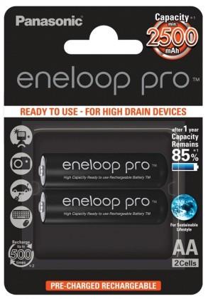 Nabíjecí baterie, nabíječky ENELOOP PRO BK-3HCDE/2BE AA