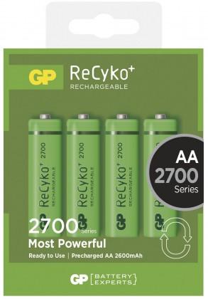 Nabíjecí baterie, nabíječky Nabíjecí baterie GP AA 2700 NiMH 4 ks