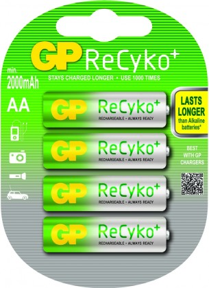 Nabíjecí baterie, nabíječky Nabíjecí baterie GP B08274 Pro, AA, 2000mAh, 4ks