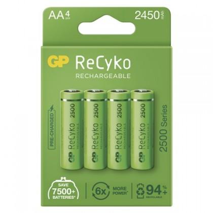 Nabíjecí baterie, nabíječky Nabíjecí baterie GP B21254 ReCyko, 2500mAh, AA, 4ks