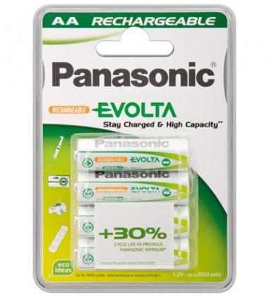 Nabíjecí baterie, nabíječky Nabíjecí baterie Panasonic, AA, přednabité, 1900mAh, NiMh, 4ks