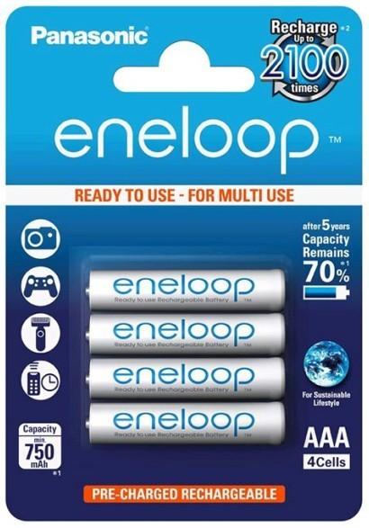 Nabíjecí baterie, nabíječky Nabíjecí baterie Panasonic Eneloop R03/AAA 750mAh, 4 ks