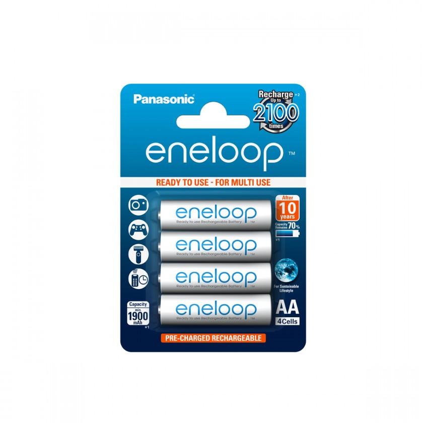 Nabíjecí baterie, nabíječky Nabíjecí baterie Panasonic Eneloop R6/AA 1900mAh, 4 ks