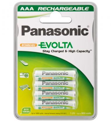 Nabíjecí baterie, nabíječky Nabíjecí baterie Panasonic NiMh, přednabité, AAA, 750mAh, 4ks