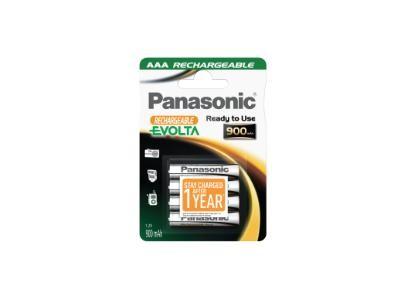 Nabíjecí baterie, nabíječky Nabíjecí baterie Panasonic NiMh, přednabité, AAA, 900mAh, 4ks