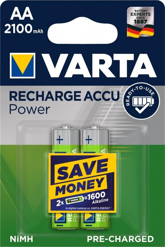 Nabíjecí baterie, nabíječky Nabíjecí baterie Varta, AA, 2100mAh, 2ks