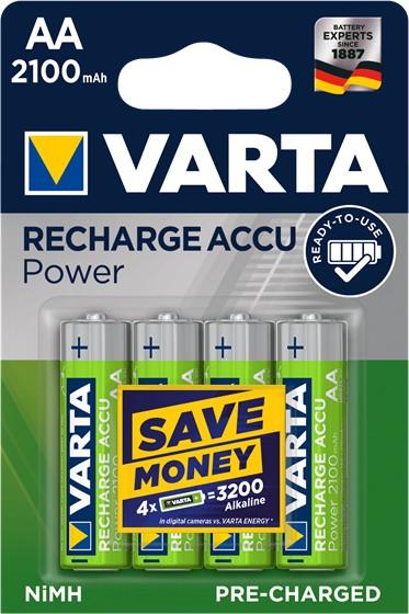 Nabíjecí baterie, nabíječky Nabíjecí baterie Varta, AA, 2100mAh, 4ks