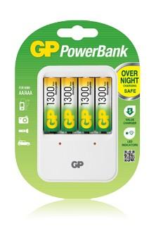 Nabíjecí baterie, nabíječky Nabíječka baterií GP PB420 + 4x AA NiMH2500 ROZBALENO