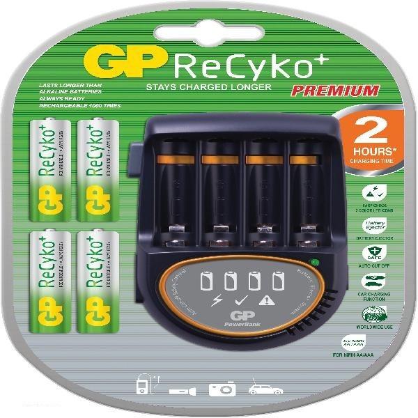 Nabíjecí baterie, nabíječky Nabíječka baterií GP PB50 + 4x AA ReCyko