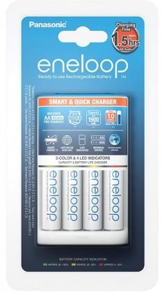 Nabíjecí baterie, nabíječky Nabíječka baterií Panasonic Eneloop K-KJ55MCC40E + 4xAA