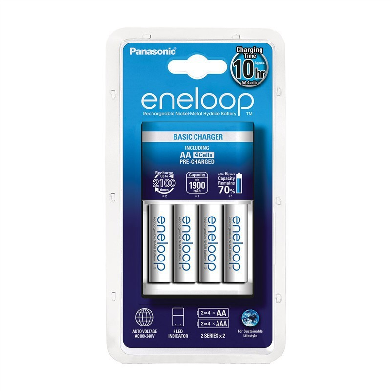 Nabíjecí baterie, nabíječky Panasonic Eneloop nabíječka KJ51MCC40E 4x AA