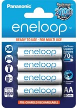 Nabíjecí baterie Panasonic Eneloop R6/AA 1900mAh, 4 ks