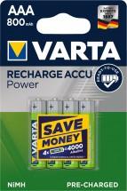 Nabíjecí baterie Varta 4xAAA 800mAh