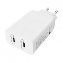 Nabíječka 2xUSB-C 40W s kabelem USB-C na Lightning MFI, bílá