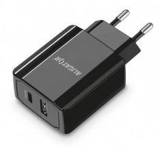 Nabíječka Aligator 1xPD Typ-C 20W + 1x USB, černá