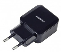 Nabíječka Aligator 2xUSB 2.4A, Turbo charge, černá