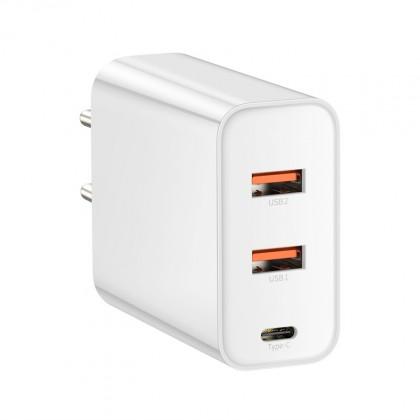 Nabíječka Baseus, 2xUSB-A + USB-C, 60W,bílá