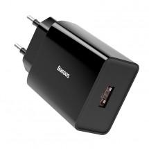 Nabíječka Baseus, USB-A, 18W, černá