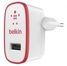 Nabíječka Belkin 1xUSB 2,1A, bílá/červená