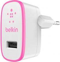 Nabíječka Belkin 1xUSB 2,1A, bílá/růžová