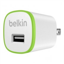 Nabíječka Belkin 1xUSB 2,4A, bílá/zelená