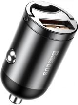 Nabíječka do auta Baseus 1x USB 30W s QC 3.0, hliníkový