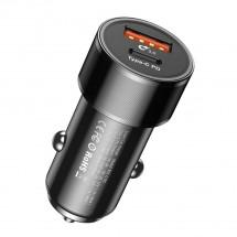Nabíječka do auta Typ C, USB, 36W + kabel Typ C na Lightning 18W