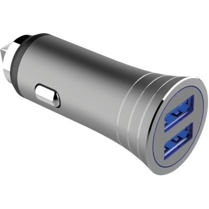 Nabíječka do auta WG 2xUSB 3,1A + kabel Typ C