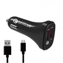 Nabíječka do auta WG 2xUSB + kabel Micro USB, 4,8A