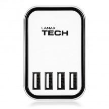 Nabíječka Lamax SMART CHARGER 4,5A, 4x USB