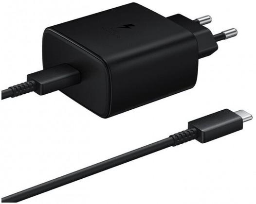 Nabíječka Samsung 1x USB Typ C, 45W + kabel USB Typ C, černá