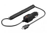 Nabíječka USB CL BLACK, micro USB, auto nabíječka