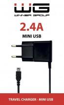 Nabíječka WG s Mini USB 2,4A, pro GPS navigace