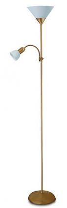 Nábytek Action - Lampa, E27 (bronzová/bílá)