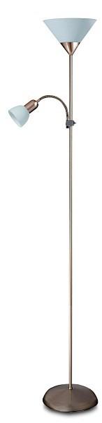 Nábytek Action - Lampa, E27 (hedvábně lesklá chromová/bílá)