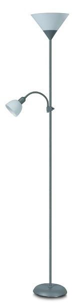 Nábytek Action - Lampa, E27 (stříbrná/bílá)