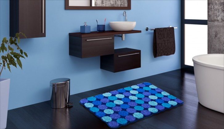 Nábytek Agarthi - Koupelnová předložka 60x100 cm (modrá)