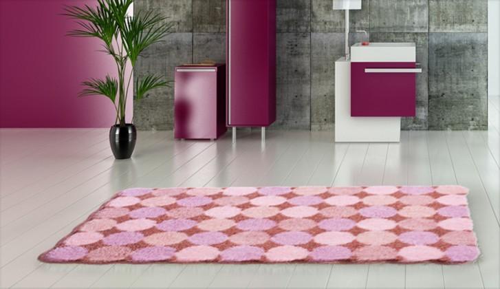 Nábytek Agarthi - Koupelnová předložka 70x120 cm (broskvová-růžová)