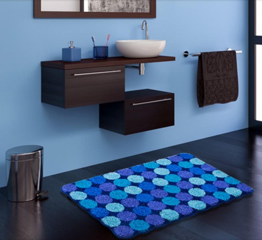 Nábytek Agarthi - Koupelnová předložka 70x120 cm (modrá)