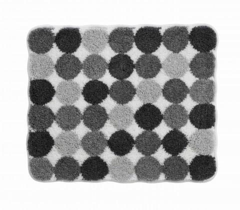 Nábytek Agarthi - Koupelnová předložka malá 50x60 cm (světle šedá-černá)