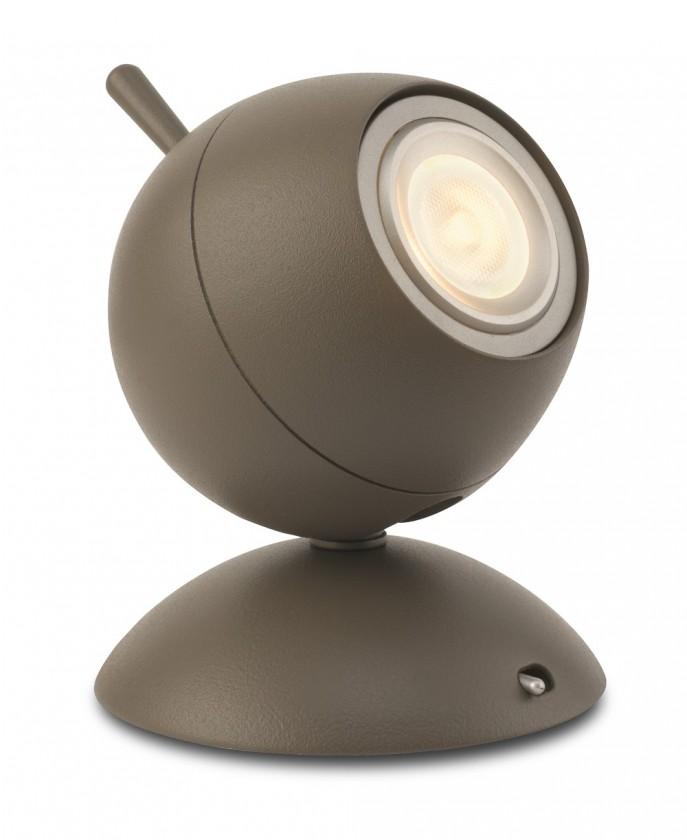 Nábytek Aloha - Lampička LED, 9,4cm (matovaná hnědá)
