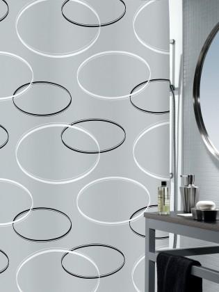Nábytek Anello-Sprchový závěs 180x200 cm(šedá)