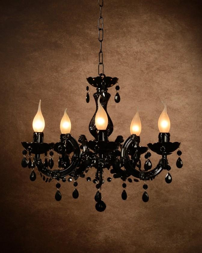 Nábytek Arabesque - stropní osvětlení, 40W, 5xE14 (černá)