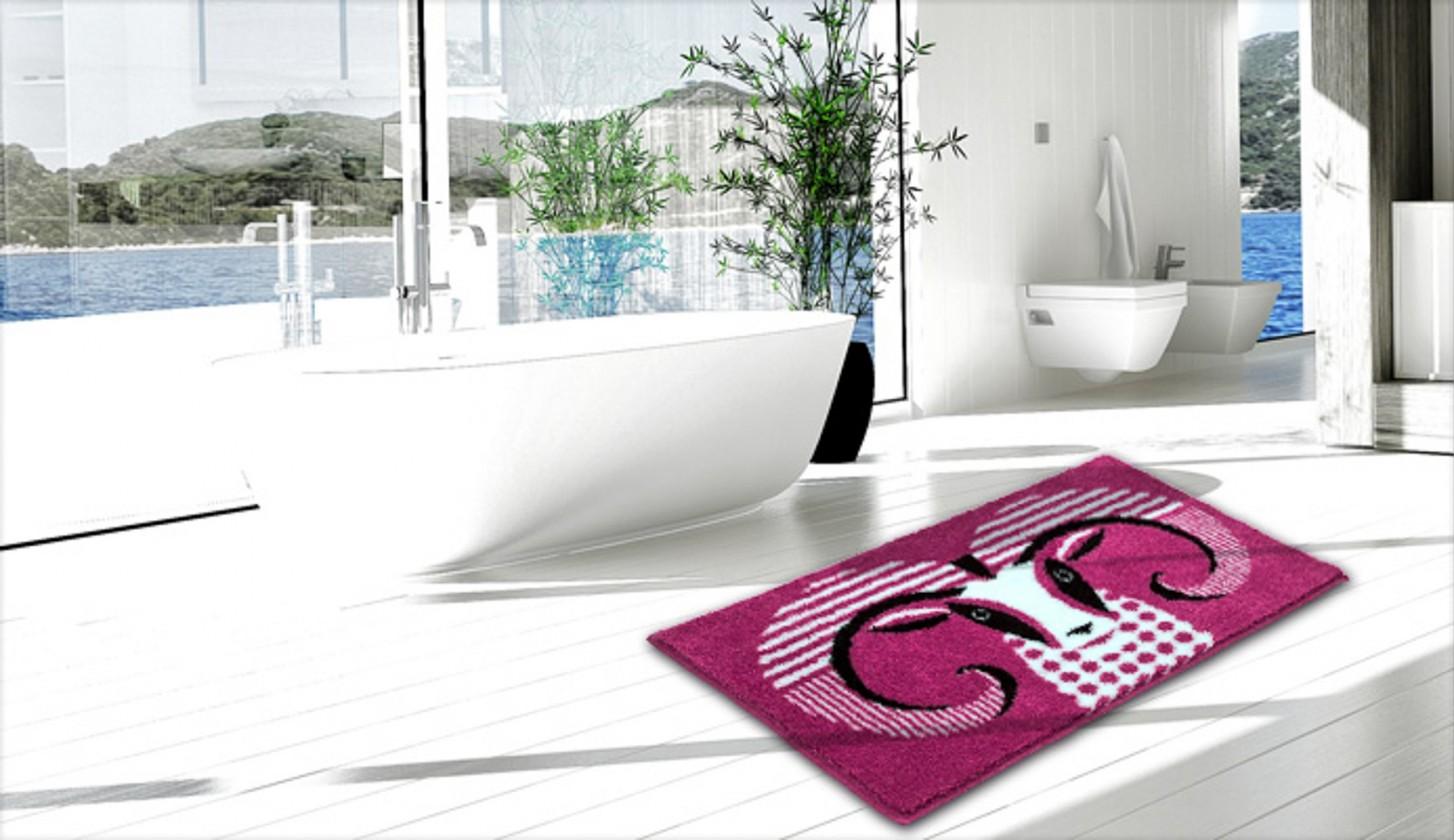 Nábytek Aries - Koupelnová předložka 60x90 cm (růžová)