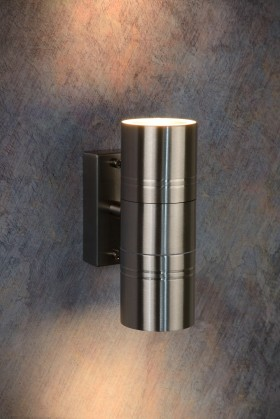 Nábytek Arne - venkovní osvětlení, 35W, 2xGU10, 17 cm (stříbrná)