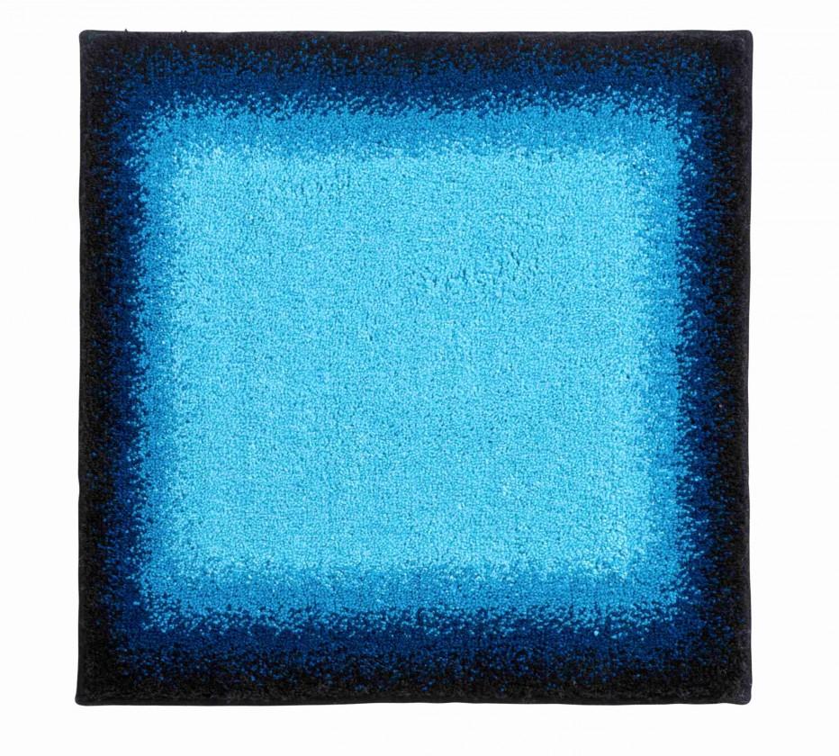 Nábytek Avalon - Koupelnová předložka malá 50x60 cm (ledově modrá-černá)