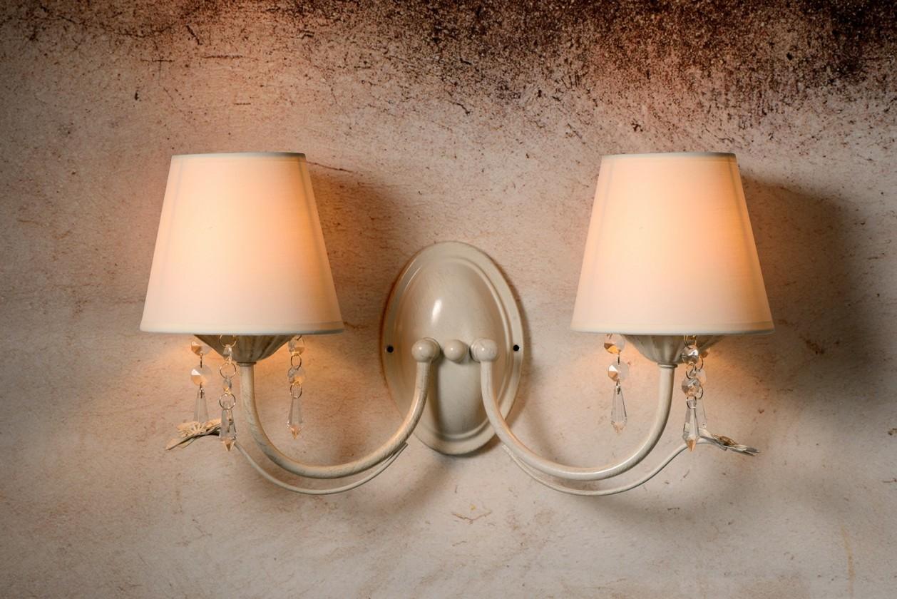 Nábytek Bari - nástěnné osvětlení, 40W, 2xE14 (bílá)