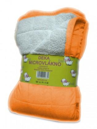 Nábytek Beránek - deka micro, oranžová (100% polyester)